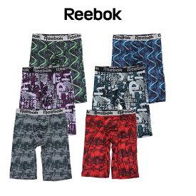 Reebok (リーボック) ロングボクサーパンツ 前とじ 吸水速乾 ストレッチ リーボックボクサーパンツ ロング丈 5分丈 ロングボクサー