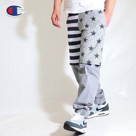 送料無料 チャンピオン 星条旗 ハーフパンツ スウェットハーフパンツ 綿100% ショーツ メンズ Champion REVERSE WEAVE(リバースウィーブ)