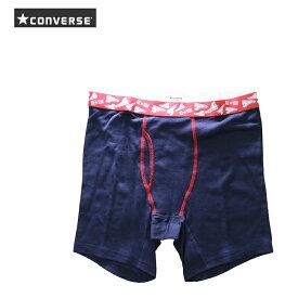 CONVERSE(コンバース) ロングボクサーパンツ 前ひらき 3分丈 綿素材 ネイビー メンズ