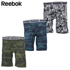 Reebok(リーボック)ロングボクサーパンツ 前とじ 吸水速乾 ストレッチ リーボックボクサーパンツ ロング丈 5分丈