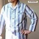 McGREGOR(マックレガー)紳士 テーラーパジャマ 綿100% コットン 上下組み メンズ パジャマ セット ストライプ 肌に…