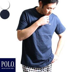 POLO スタンダード tシャツ 丸首 メンズ 春夏 トラディショナル ポロtシャツ 抗菌防臭 綿100% コットン