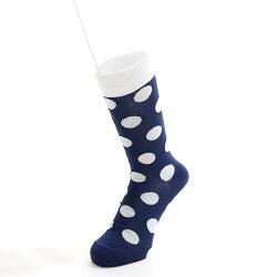 日本製靴下ソックスアウトラストOUTLAST水玉柄25-27メンズ春夏秋冬温度調節機能おしゃれ