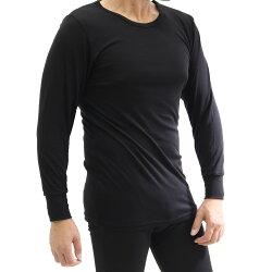 長袖クルーネックシャツ/東レ/ソフトサーモ/秋冬/メンズ/暖か/吸湿発熱/長袖丸首
