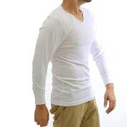長袖Vネックシャツ/東レ/ソフトサーモ/秋冬/メンズ/暖か/吸湿発熱/長袖Vネック