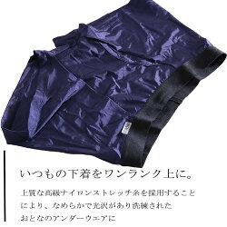 【PREMIUM】光沢ボクサーパンツ(ナイロンマイクロ糸)(前開き)