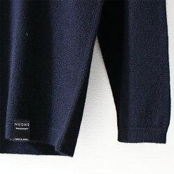 送料無料NUONE(ヌワン)日本製ホールガーメント製法カシミヤシルクのVネック長袖プルオーバーブラック