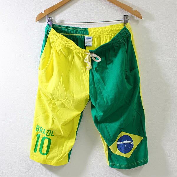 送料無料OUTDOOR(アウトドア)ステテコ(ブラジル柄10リオ)おしゃれ ストレッチステテコポケット付きハーフパンツ ブラジル ショーツ