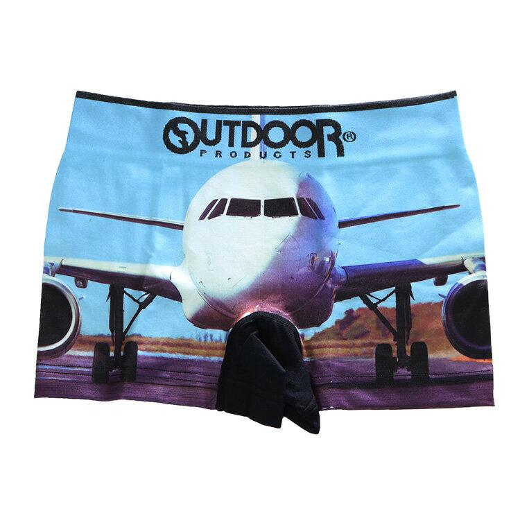 OUTDOOR(アウトドア)飛行機 乗り物成型BBアウトドアボクサーパンツ前とじメンズ/SL/汽車【AC6011B137】