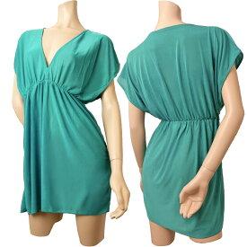 UVカットのビーチドレス 水着の上に着れるお洒落なワンピース 選べる8カラー 黒色 フリーサイズ 日焼け レディース 大きいサイズ セクシー 送料無料