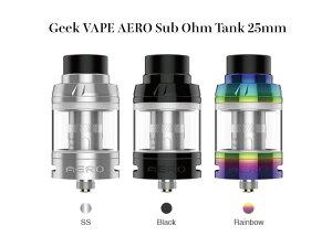 電子タバコ べイプ アトマイザー Geek VAPE AERO Sub Ohm Tank 25mm ギークベイプ コイル タイプ 大容量 4ml タンク 簡単 トップフィル アトマイザー