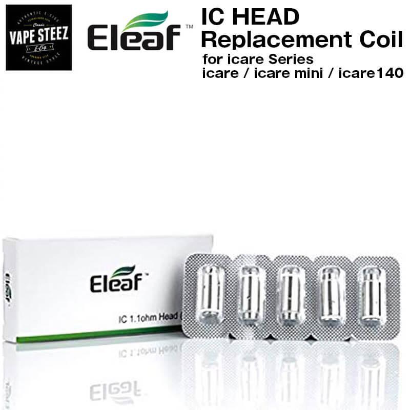 【全品ポイント最大15倍】Eleaf icare mini 専用コイル IC HEAD(5個入り)1.1Ω 電子たばこ カートリッジ アトマイザーコイル【クリックポスト発送】【エントリーで20日23:59まで】