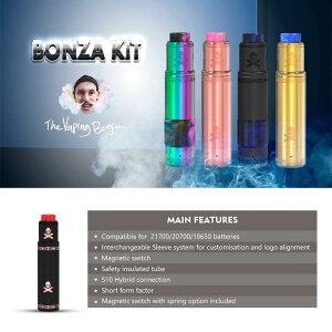 電子たばこメカニカルMODVANDYVAPEBONZAmechKIT【リキッド式】【爆煙】【シングルバッテリー】【18650/20700/21700バッテリー対応】【ハイブリッド接続】【チューブ型】【VAPE】