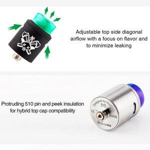 電子タバコアトマイザーHELLVAPEDEADRABBITSQRDA22mmBFピン対応