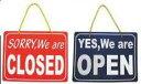 OPEN&CLOSED サインプレート オープン クローズ 店看板 インテリア[定形外郵便、送料無料、代引不可]