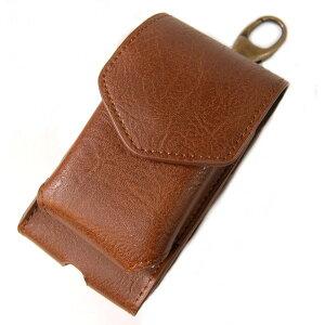 アイコス グロー ケース iQOS glo ヒートスティック 収納 携帯 ポーチ (ブラウン)[定形外郵便、送料無料、代引不可]
