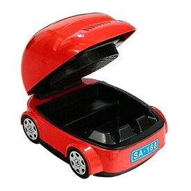 ライトが光る! 小型ファン搭載 車型吸煙灰皿 ライター[送料無料(一部地域を除く)]