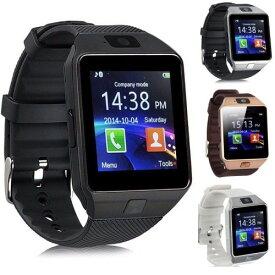 スマートウォッチ タッチパネル 多機能 Bluetooth 腕時計 カメラ搭載 通話 ボイスレコーダー (ブラック)[定形外郵便、送料無料、代引不可]