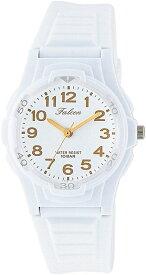 [シチズン キューアンドキュー]CITIZEN Q&Q 腕時計 Falcon ファルコン アナログ表示 10気圧防水 ウレタンベルト ホワイト ゴールド VS06-002[定形外郵便、送料無料、代引不可]