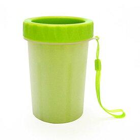 ペット用 足洗いカップ 足拭き 足クリーナー ブラシカップ ブラシカップ 犬 猫 (M, グリーン)[定形外郵便、送料無料、代引不可]