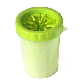 ペット用 足洗いカップ 足拭き 足クリーナー ブラシカップ ブラシカップ 犬 猫 (S, グリーン)[定形外郵便、送料無料、代引不可]
