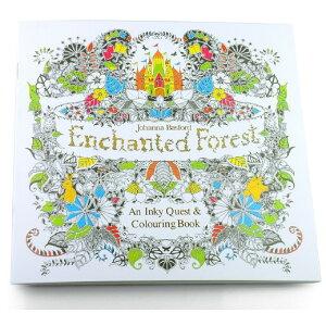 塗り絵 Enchanted Forest 大人のぬりえ 森【smtb-KD】[定形外郵便、送料無料、代引不可]