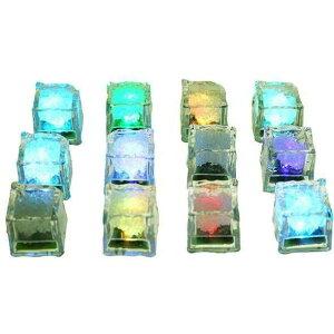 光るアイスキューブ ≪12個セット≫ 7色発光 光る氷 アイスライト キューブライト パーティーグッズ[ゆうパケット発送、送料無料、代引不可]