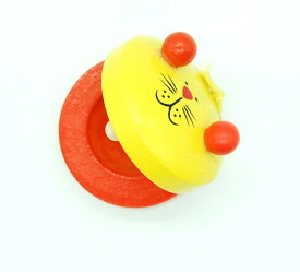 動物カスタネット 《イエロー》 木製 アニマル 子供 楽器 おもちゃ[定形外郵便、送料無料、代引不可]