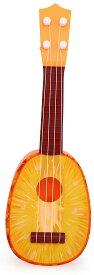 フルーツギター 《パイナップル》 子供 ミニ 果物 ウクレレ かわいい おもしろ 玩具[定形外郵便、送料無料、代引不可]