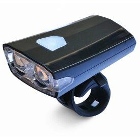 USB充電式 自転車 ヘッドライト 《ブラック》 3点灯 マウントタイプ[定形外郵便、送料無料、代引不可]