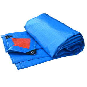 厚手 万能 防水シート 3m×4m ブルーシート 養生シート 耐水 水害対策 屋根保護 カバー[送料無料(一部地域を除く)]