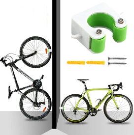 自転車 壁 ディスプレイスタンド 《ロードバイク用》 《グリーン》 壁掛け ラック[定形外郵便、送料無料、代引不可]