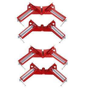コーナー万能クランプ 4個セット 90° 角材 直角 固定 木工定規 直角定規 直角クランプ DIY 工具 [送料無料(一部地域を除く)]