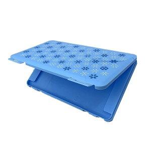 マスクケース 《水色》 ノルディック ブルー 収納ケース 2-3枚 持ち歩き マスク入れ 保管ケース[定形外郵便、送料無料、代引不可]