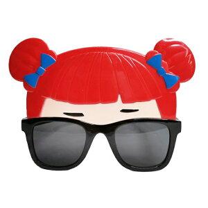 おもしろメガネ 《女の子》 パーティ 仮装 コスプレ 眼鏡 めがね サングラス ダブルお団子ヘアー[定形外郵便、送料無料、代引不可]