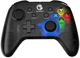 GameSir T4 Pro ワイヤレス ゲームコントローラー iOS Android PCスイッチ用 2.4 GHz Bluetooth 6軸 ジャイロ[送料無料(一部地域を除く)]