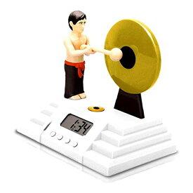 ゴング型デジタル目覚まし時計 おもしろ アラーム 置時計[送料無料(一部地域を除く)]