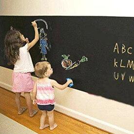 壁 に 貼って はがせる 黒板(ブラックボード)ウォール ステッカー 2M×45cm 4色 5本入 チョーク付き【little Monster】[送料無料(一部地域を除く)]