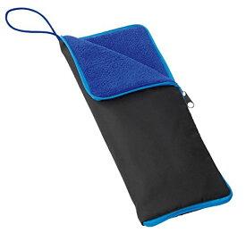 超吸水 マイクロファイバー 傘カバー ペットボトルカバー ブルー 折り畳み傘 折りたたみ傘[定形外郵便、送料無料、代引不可]