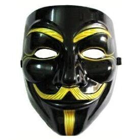 VIP版 V for Vendetta アノニマス/ガイ・フォークス 仮面 マスク ブラック&ゴールド[定形外郵便、送料無料、代引不可]