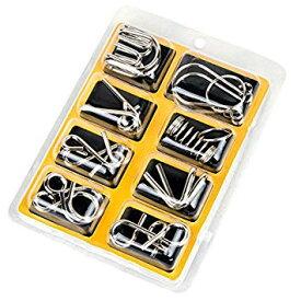ミステリーリング 知恵の輪 8個セット パズル チャイニーズリング 知育玩具[ゆうパケット発送、送料無料、代引不可]