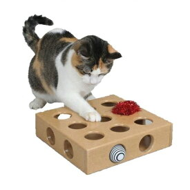 猫用おもちゃ 木製 ころころボールボックス 運動不足 ストレス解消 ねこじゃらし[送料無料(一部地域を除く)]