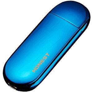 振るだけで点火 USB電子ライター USB接続 防風 軽量 極薄 おしゃれ プレゼント (ブルー)[定形外郵便、送料無料、代引不可]