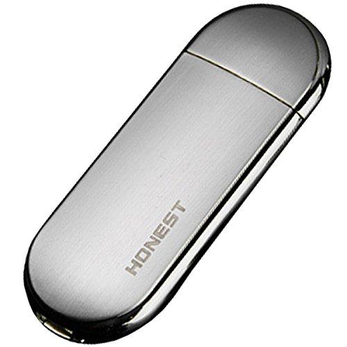 振るだけで点火 USB電子ライター 《シルバー》 USB接続 防風 軽量 極薄 おしゃれ プレゼント[メール便発送、送料無料、代引不可]【YDKG-kd】【smtb-KD】