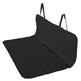 車載 ペット用 防水シートカバー 後部座席用 143×132cm フリーサイズ (ブラック)[送料無料(一部地域を除く)]