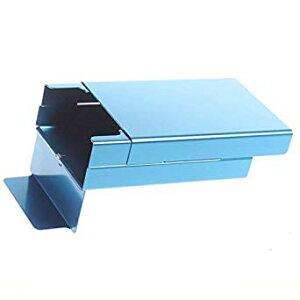 アルミ製 煙草ケース 20本収納 たばこ タバコ シガレットケース (ブルー)[定形外郵便、送料無料、代引不可]