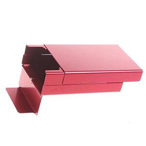 アルミ製 煙草ケース 20本収納 たばこ タバコ シガレットケース (レッド)[定形外郵便、送料無料、代引不可]