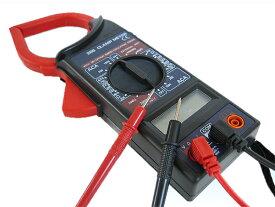 デジタルクランプメーター電圧 電流 抵抗測定ケース付[送料無料(一部地域を除く)]