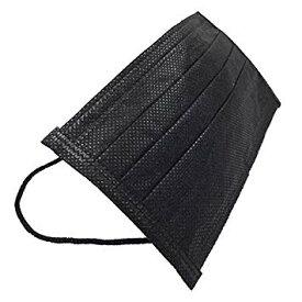 黒マスク 使い捨て タイプ 50枚セット 不織布製 三層構造式 おしゃれ 【YDKG-kd】【smtb-KD】[マスク][定形外郵便、送料無料、代引不可]