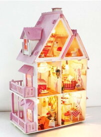 塗装から組み立てまで手作りしよう 木製ミニチュアドールハウス FS-X001[クリスマス][玩具][送料無料(一部地域を除く)]